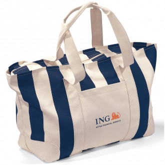 Large Striped Canvas Totes