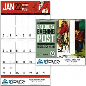 The Saturday Evening Post Big Block Memo Calendars