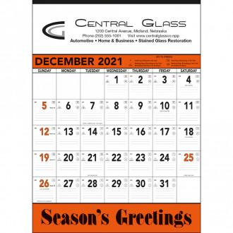 Orange & Black Contractor's Memo Calendars