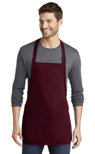 Port Authority Medium Length Apron with Pouches Pockets
