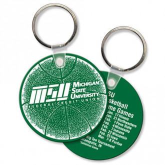 Round Soft Touch Key Chains