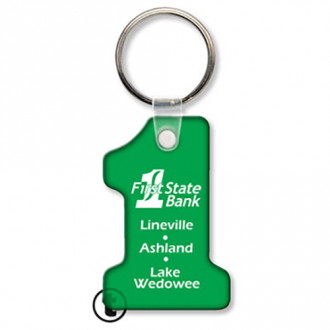 Number 1 Sof-Touch Vinyl Key Tags
