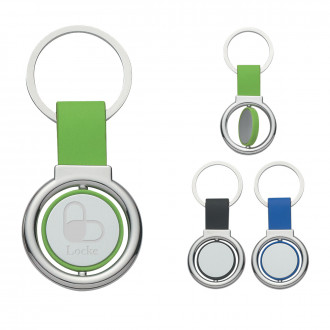 Circular Metal Spinners Key Tags