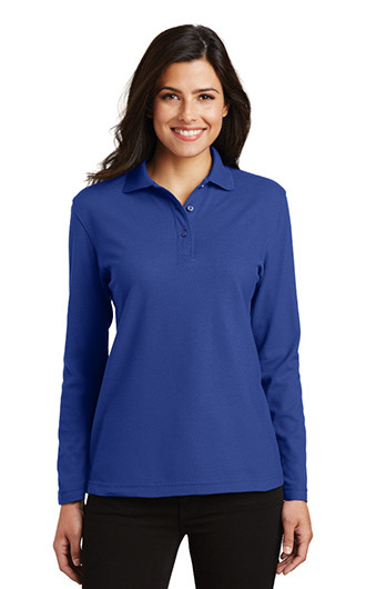 Port Authority Women's Long Sleeve Silk Touch Polo