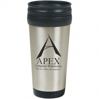16 Oz. Stainless Steel Tumblers With Slide Action Lid And Plasti