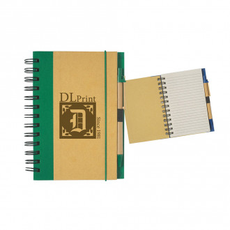 Eco-Friendly 5 X 7 Spiral Notebooks & Pens