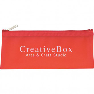 Frosted Zippered Pencil Cases