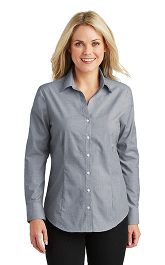 Port Authority Women's Crosshatch Easy Care Shirts
