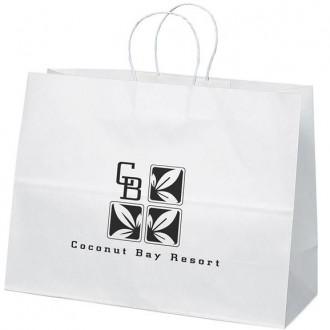 Vogue White Paper Shopper