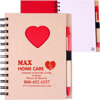EcoShapes Recycled Die Cut Notebooks: Heart