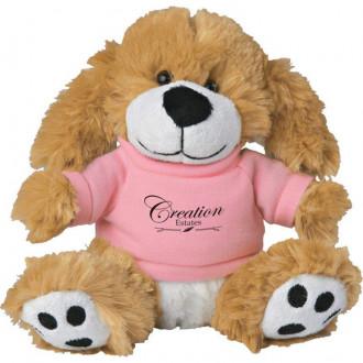 6 Plush Big Paw Dog with Shirts