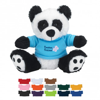 6 Plush Big Paw Panda with Shirts