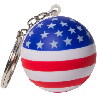 Patriotic Stress Ball Key Chains Stress Relievers
