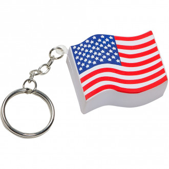 US Flag Key Chains Stress Relievers