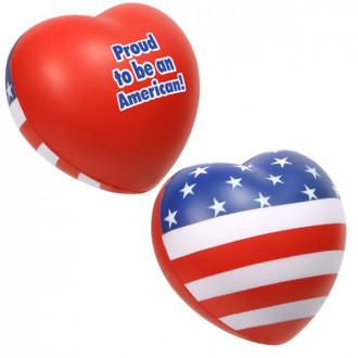 Patriotic Valentine Heart Stress Relievers