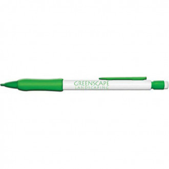 Mechanical  Pencils- White Barrel with Rubber Grip- Refillable