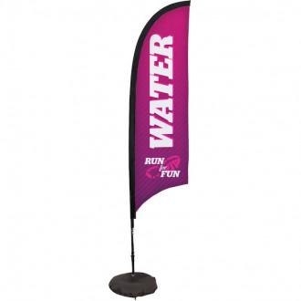 7' Razor Sail Sign Kit Single-Sided w/Scissor Base
