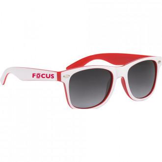 Two-Tone Malibu Sunglasses with White Frame