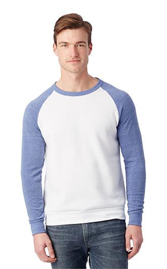 Alternative Colorblocked Eco Fleece Crewneck Sweatshirts