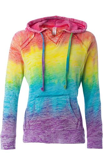 MV Sport Courtney Burnout V-Notch Sweatshirts