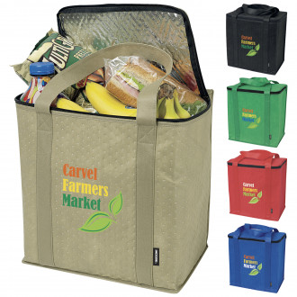 Koozie Zippered Insulated Grocery Totes