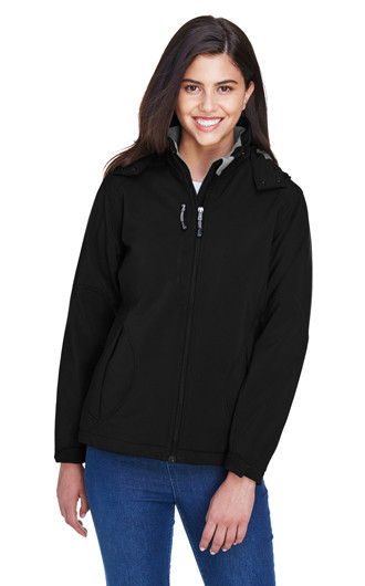 Glacier Women Insulated Soft Shell Jackets With Detachable Hood