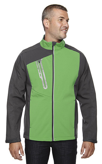 Terrain Men's Color-Block Soft Shell With Embossed Print