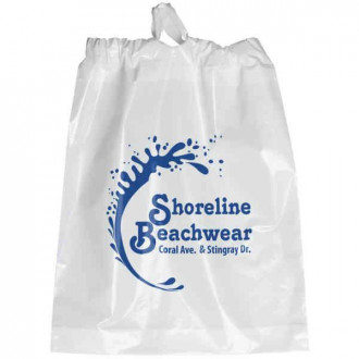 NFL Approved Clear Poly-Draw Plastic Bags