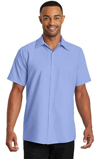 Red Kap Mens Short Sleeve Pocketless Gripper Shirts