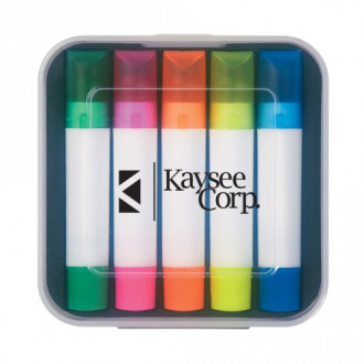 Set Of 5 Wax Highlighters