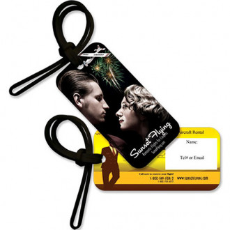 Small Full Color Luggage Tag Black Base