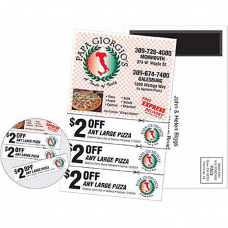 Magnetic Stick-Up Card - Coupon - Full Color