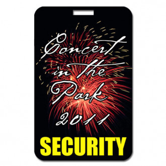 Laminated Card Stock Badge - Rectangle - Full Color