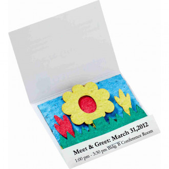 Seed Paper Matchbook: Wildflower Scene
