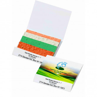 Seed Paper Matchbook: Color Stack Herb Patch