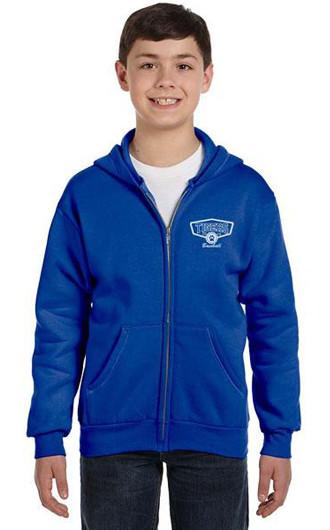 Hanes - Youth Comfortblend EcoSmart Full-Zip Hooded Sweatshirts