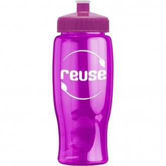Poly-Pure - 27 oz. Transparent Bottles
