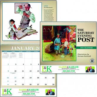 Color Bar Saturday Evening Post Calendars