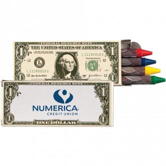 4 Packs Money Design Crayons