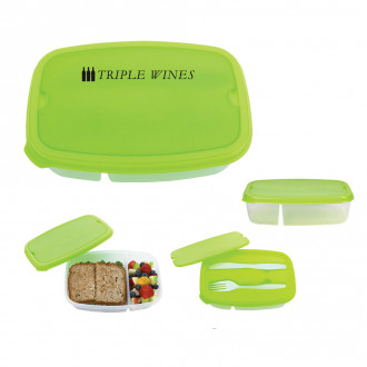 2-Section Lunch Containers