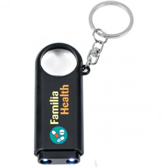 Magnifier And Led Lights Key Chains