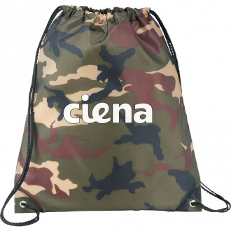 Camo Oriole Drawstring Cinch Backpacks