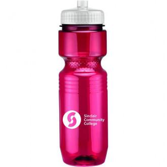 26 oz Translucent Jogger Bottles (Push Pull Lid)