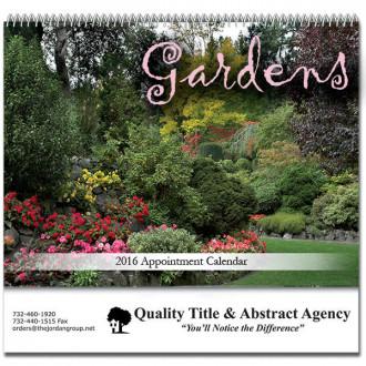 Gardens Spiral Bound Wall Calendars