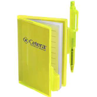 Clear-View Mini Notebooks with Pens