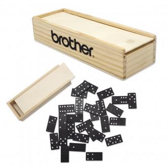 Dominoes in Wooden Box