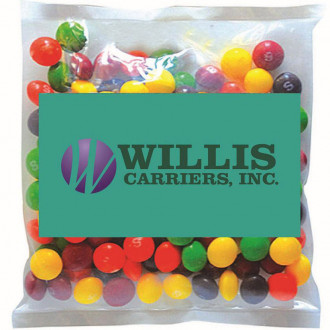 Business Cards Magnet w/ Small Bags of Skittles