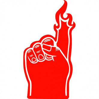 Foam Flame Finger 18