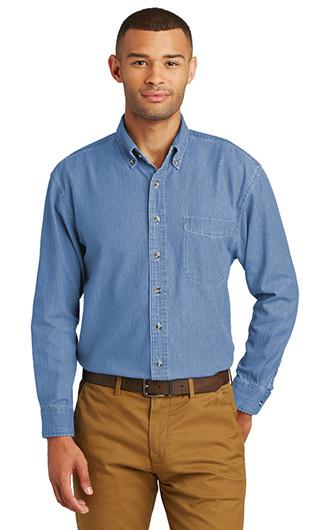 Port & Company Long Sleeve Value Denim Shirts