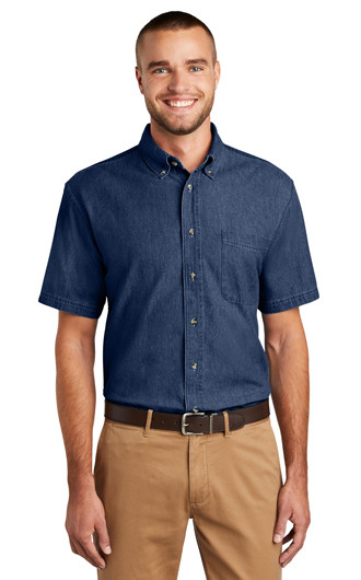 Port & Company Short Sleeve Value Denim Shirts
